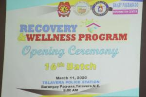 Recovery & Wellness Program Opening Ceremony 16th Batch